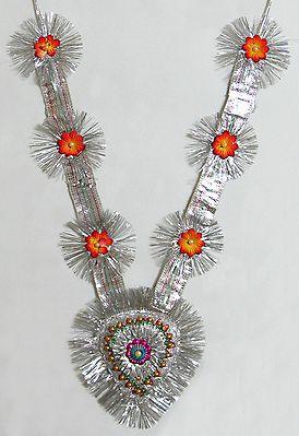 Silver Zari Garland