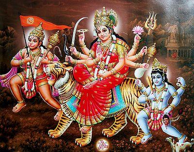 Bhagawati with Hanuman and Batuk Bhairav