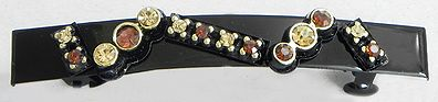 Stone Studded Black Designer Hair Clip