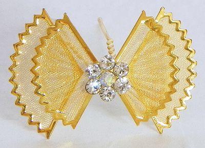 Golden Metal Butterfly Shaped Hair Pin