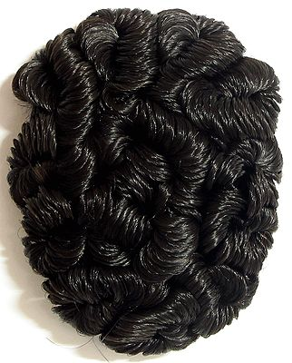 Designer Black Hair Bun