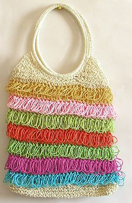 Multicolor Crochet Bag