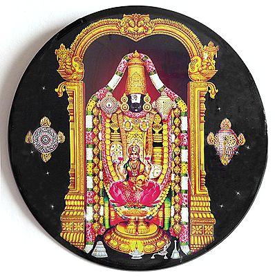 Balaji with Lakshmi - Acrylic Wall Hanging