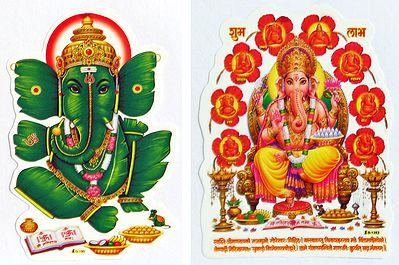 Ganesha and Ashtavinayaka- Set of Two Stickers