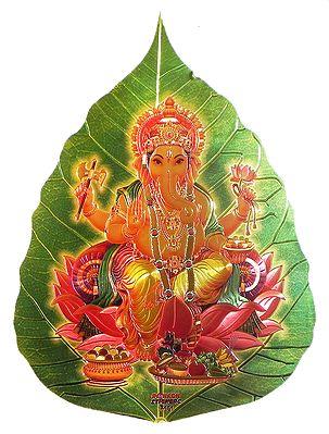 Ganesha on Pipul Leaf