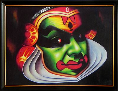 Kathakali Face (Deco Painting) - Wall Hanging with Stand