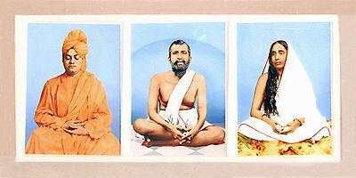 Ramkrishna Dev, Sarada Ma and Swami Vivekananda in Single Acrylic Casing