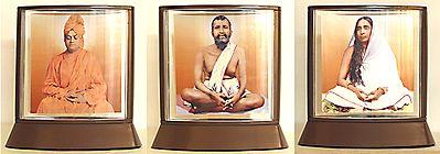 Ramkrishna Dev,Sarada Ma and Swami Vivekananda in Three Separate Acrylic Casing