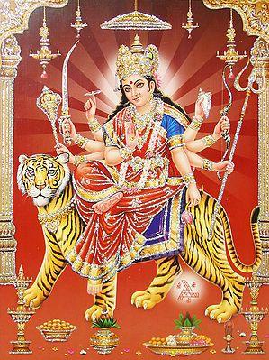 Vaishno Devi - (Poster with Glitter)