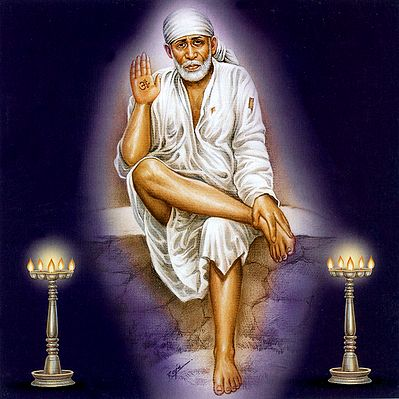 Shirdi Sai Baba In White Robe