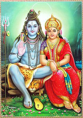 Shiva Sitting with Parvati