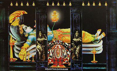 Ananthasayanam for Ananthasayanam mural painting