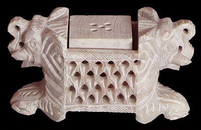 Intricately Stone Carved Incense Stick Holder