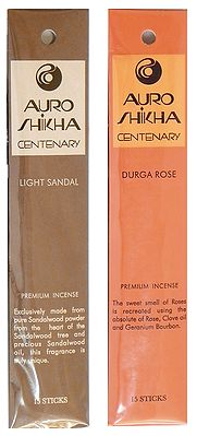 Pack of Two Light Sandal and Durga Rose  Fragrance Incense Sticks