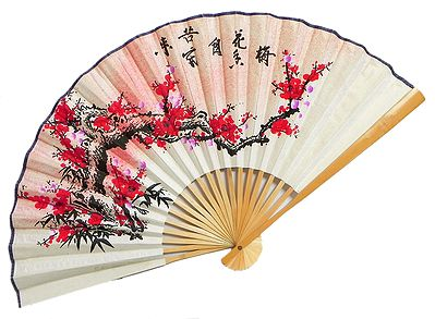 The Setting Sun Meets the Blossoming Flowers - Wall Hanging Fan