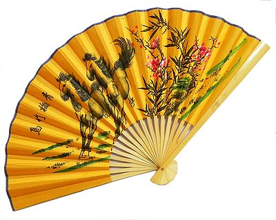 Galloping Beauties - Wall Hanging Fan