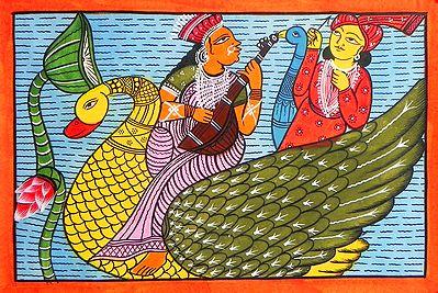 Saraswati and Kartik