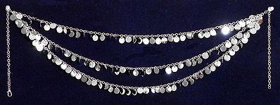 Three Layer Metal Coin Waist Jewelry