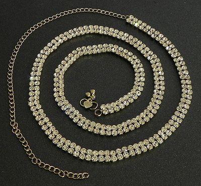 White Stone Studded Waist Jewelry