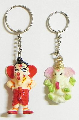 Ganesha Key Rings - Set of Two