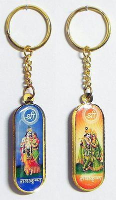 Radha Krishna Key Holders - Set of Two