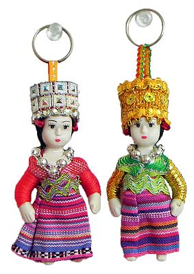Set of 2 King and Queen Key Rings