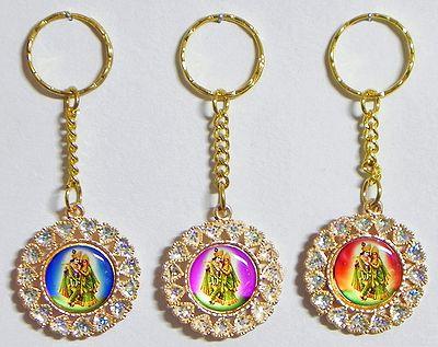 Radha Krishna Key Holders - Set of Three