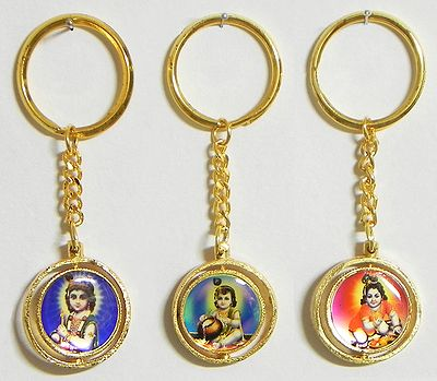 Krishna Key Holders - Set of Three