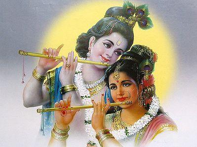 Eternal Lovers - Radha and Krishna