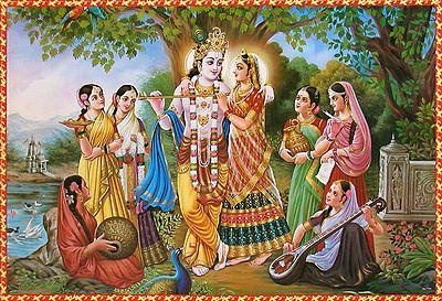 Gopinis Entertain Radha Krishna