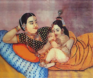 Yashoda Feeding Krishna