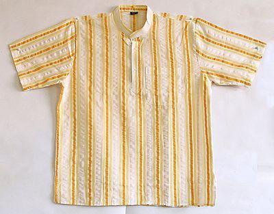 Dark Yellow, Light Yellow and Off White Short Kurta