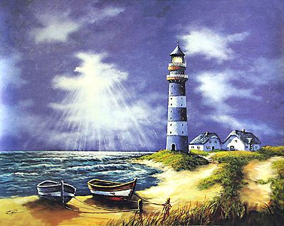 Beach Landscape Painting Easy