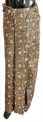 Brown, Yellow and Black Printed Cotton Lungi
