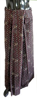Printed Maroon Cotton Lungi