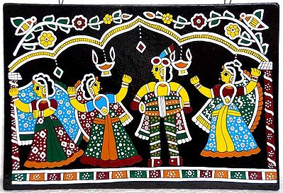 Dancing in Diwali  - Wall Hanging