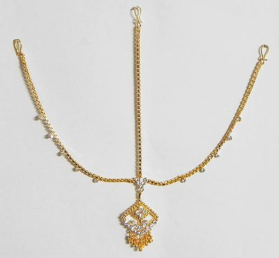 Stone Studded and Gold Plated Shingar Patti
