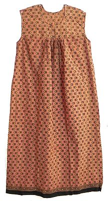 Brown Cotton Maxi with Black Print