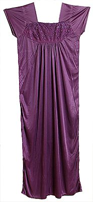 Satin Silk Purple Night Gown