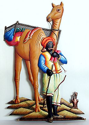 Camel Rider with a Camel  - Wall Hanging