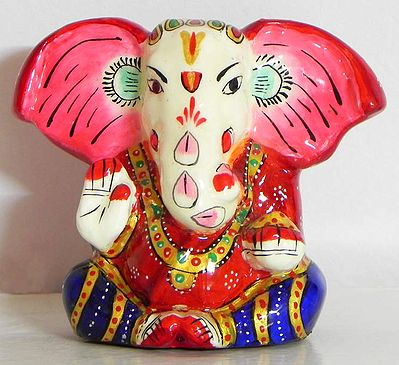 Colorful Laquered Colorful Ganesha