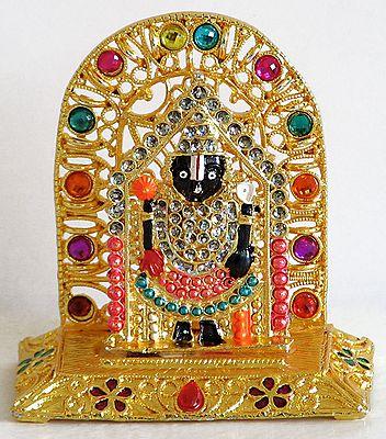 Stone Studded Lacquered Lord Venkateshwara