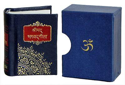 Miniature Bhagavad Gita in Sanskrit with Hindi Translation with Cover