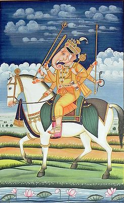 Lord Ganesha as Warrior