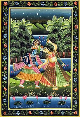 Radha and Krishna in a Playful Mood