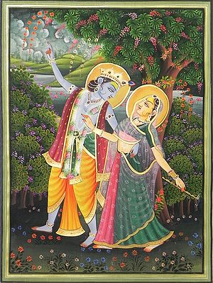 Radha Krishna Enjoying Each Other's Company