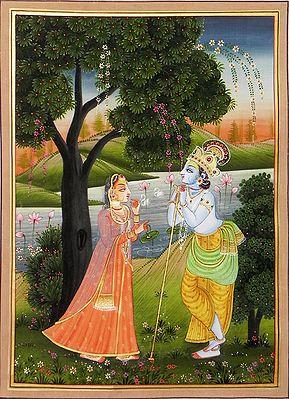 Krishna Spellbound by Radha's Beauty