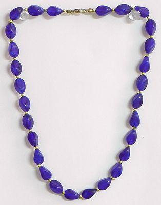 Blue Acrylic Bead Necklace