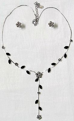 Faceted Cubic Zirconia Necklace Set