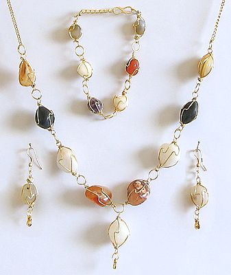 Harmony - Stone Necklace, Bracelet and Earrings